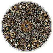 48 Marble Dining Table Top Inlay Rare Semi Round Center Coffee Table Ar0700