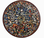 48 Marble Dining Table Top Inlay Rare Semi Round Center Coffee Table Ar0703