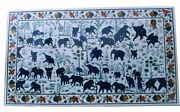 48 Marble Dining Table Top Inlay Rare Semi Antique Center Coffee Table Ar0709