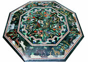 48 Marble Dining Table Top Inlay Rare Semi Antique Center Coffee Table Ar0728