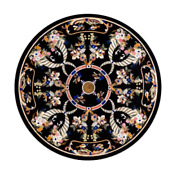 48 Marble Dining Table Top Inlay Rare Semi Round Center Coffee Table Ar0731
