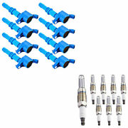 8+ignition Coils All Blue For Dg511 +8 Spark Plugs 1101 For Sp546 Ford Lincoln