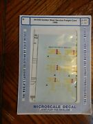 Microscale - N Scale - Decal - Golden West Service Freight Carss 1990 60-658