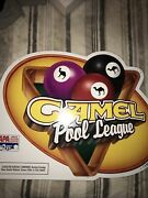 Camel Cigarettes Pool League Sign Vintage 1998 Tin Pristine Shape 27 In X 22 In