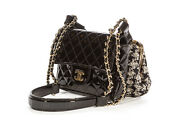 Rare Exclusive Edition Ginza Patent Lace Mini Kiss Lock Flap Double Bag