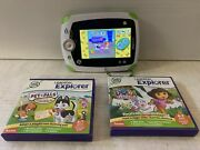 Leapfrog Leappad Bundle W/ Stylus 2 Games-pet Pals And Dora The Explorer Tested