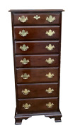 Harden Mahogany Lingerie Chest Seven Drawer Dresser With Brass Handles