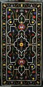 54 Marble Dining Table Top Inlay Rare Semi Antique Center Coffee Table Ar0742