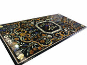 54 Marble Dining Table Top Inlay Rare Semi Antique Center Coffee Table Ar0753
