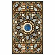 54 Marble Dining Table Top Inlay Rare Semi Antique Center Coffee Table Ar0755