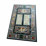 54 Marble Dining Table Top Inlay Rare Semi Antique Center Coffee Table Ar0756