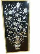 54 Marble Dining Table Top Inlay Rare Semi Antique Center Coffee Table Ar0764