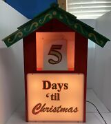 Lighted Days Until Christmas Ed Tv Episode Home For Christmas Prop Ted Cavanagh