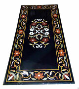 48 Marble Dining Table Top Inlay Rare Semi Antique Center Coffee Table Ar0774