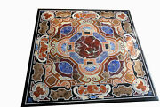 36 Marble Dining Table Top Inlay Rare Semi Antique Center Coffee Table Ar0777