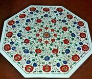 36 Marble Dining Table Top Inlay Rare Semi Antique Center Coffee Table Ar0782