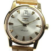 Longines 18k Pink Gold Conquest Date Silver Dial Automatic Men's Watch_568756