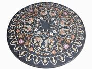 36 Marble Dining Table Top Inlay Rare Semi Round Center Coffee Table Ar0785