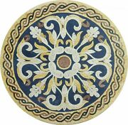 36 Marble Dining Table Top Inlay Rare Semi Round Center Coffee Table Ar0786