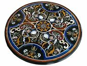 36 Marble Dining Table Top Inlay Rare Semi Round Center Coffee Table Ar0790