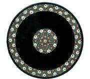 36 Marble Dining Table Top Inlay Rare Semi Round Center Coffee Table Ar0791