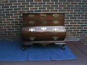 Baker Furniture Mahogany Chippendale Bombe Chest