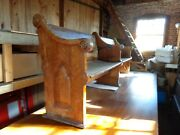 Scarce Antique Reversible 9 Foot 1/2 Inches Long Church Pew For Refinishing