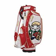 New Winwin Style Lucky Gods Cart Bag / Caddy Bag 9 Type Gold Version Cb-364 Wh ×