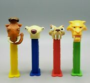 Ice Age Pixar Animated Movie Character Pez Dispensers + Candy Lot Of 4 Nice