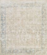 Antique Muted Traditional Distressed Hand-knotted Evenly Low Pile Area Rug 10x10
