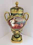 Superb Quality Antique 1880s Hand Painted Royal Vienna Lidded Urn Signed Wagner