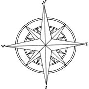 'compass Star' Rubber Stamp Rs015393