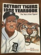 1985 Detroit Tigers Yearbook Great Condition World Champions Trammell Morris