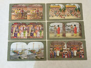 Vintage 80 Stereoscope Viewer Cards Japanese Scenes In Original Box Early 1900s