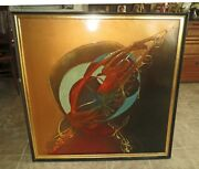 Modern Mid Century Abstract Painting Monumental Signed - Manhattan Estate