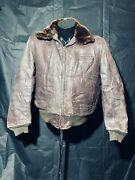 Horsehide Leather Jacket Wwii Era Size 42 Brown