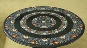 36 Marble Dining Table Top Inlay Rare Semi Round Center Coffee Table Ar0885