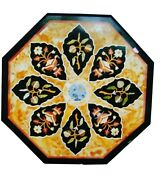 36 Marble Dining Table Top Inlay Rare Semi Antique Center Coffee Table Ar0898