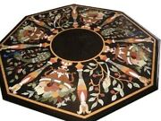 36 Marble Dining Table Top Inlay Rare Semi Antique Center Coffee Table Ar0899
