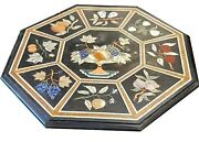36 Marble Dining Table Top Inlay Rare Semi Antique Center Coffee Table Ar0900