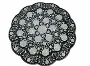 24 Marble Dining Table Top Inlay Rare Semi Round Center Coffee Table Ar0949