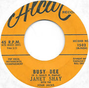 Janet Shay With The Four Jacks Busy Bee On Alcar Doo Wop 45 Hear