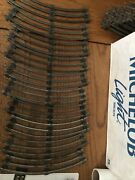 """Lot 10 Lionel Marx O Scale Curved Track Tubular 3 Rail Steel 10"""" Sections"""