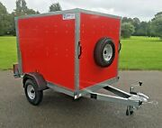 Tickners Box Trailer Red 6x4x4 Rear Doors From Teds Trailers Liverpool