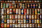 Old Brewery Cans Labels Beer Bar Drink Large Clock Wall Art 12 X 18 Inch Decor