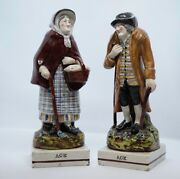 Early Staffordshire Couple Titled Age Enoch Wood C.1820