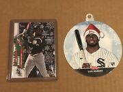 Luis Robert 2020 Topps Holiday Ssp Candy Cane And Belt Variation Rc And Ornament