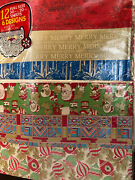 144 Sheets Vintage Christmas Wrapping Paper Huge Lot Nip Sealed Gift Wrap 12 Pjs