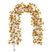 5x6.5ft Artificial Hanging Fall Maple Leaves Garland Vines Christmas Halloween