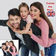 Personalized Diy 5d Diamond Painting Uk Full Drill Kits Family Photo Gifts